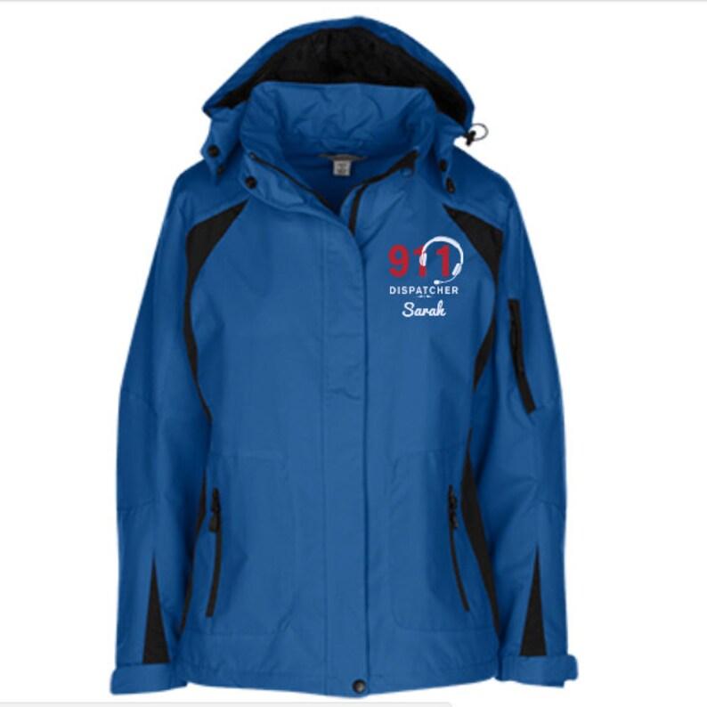 PRN-080 911 Dispatcher Ladies Winter Jacket   911 Dispatcher Gift  911 Dispatcher Personalizable Jacket