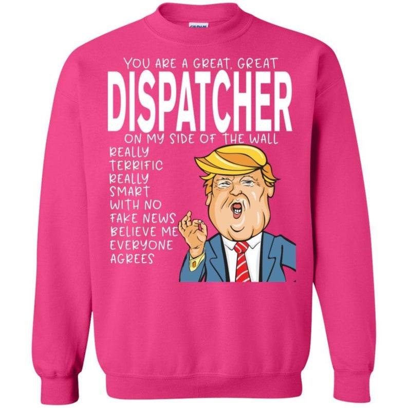 f49262dd32 Dispatcher Crewneck Pullover Sweatshirt TShirts Scoop Neck | Etsy