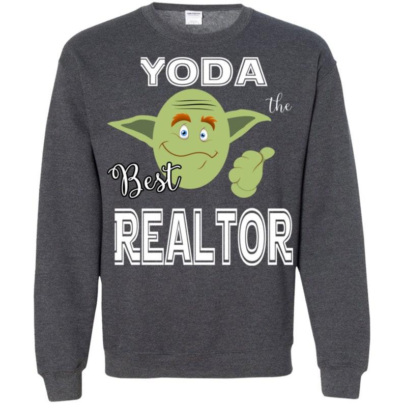 Realtor Shirt Sweater SP-0078-CSC-Yoda the Best Realtors TShirts Scoop Neck Tee Shirts