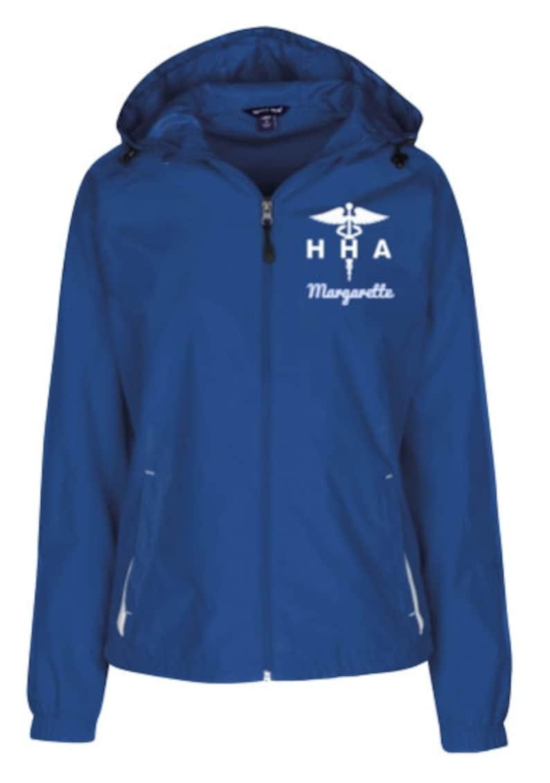 Home Health Aide Ladies Windbreaker Jacket  HHA  Home Health Aide  Personalizable Jacket PRN-019