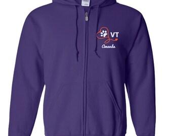 Word Cloud Vet Tech Pullover Hoodie - Veterinary Assistant Hooded Sweatshirt OYt0u