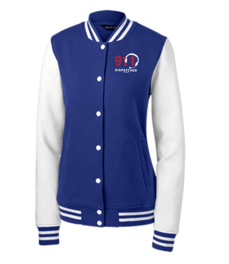 2591ff3a 911 Dispatcher Fleece Letterman Jacket/ 911 Dispatcher | Etsy