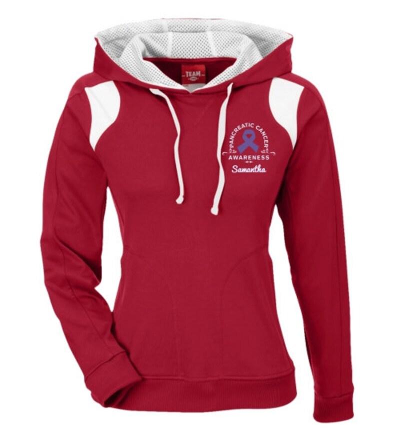 306 Pancreatic Cancer Awareness Poly Hoodie Sweatshirt  Awareness Personalization Sweatshirt  Gift For Cancer Awareness Advocate-PRN