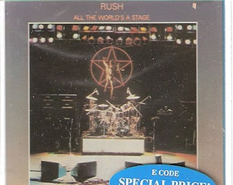 Rare - RUSH (All The World's A Stage) 1976 cassette tape - Sealed and in Mint Condition (Rush - Geddy Lee, Neil Peart and Alex Lifeson)