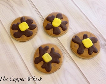 Decorated Pancake/Flapjack Sugar Cookies