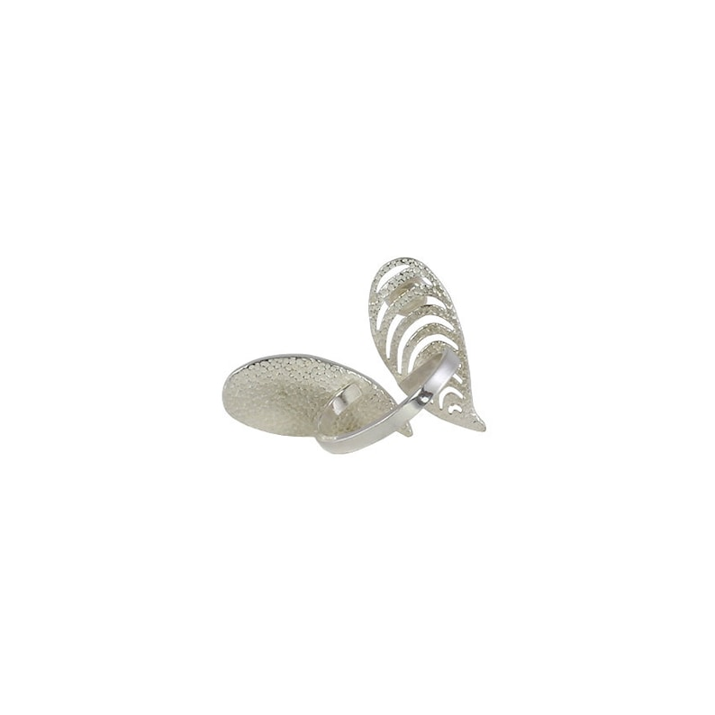 Shells and pearl gold ring in 925 sterling silver