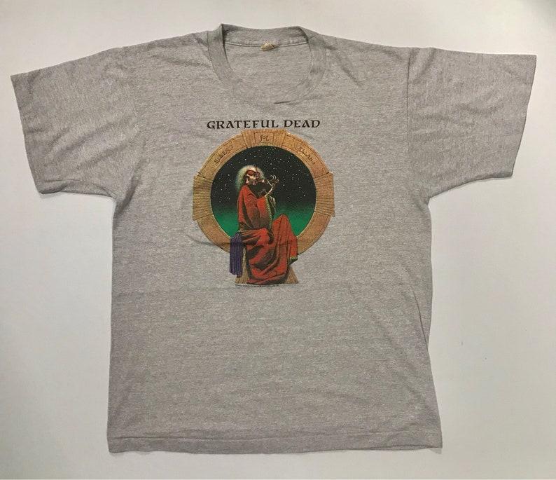 4d2de3b2 Vintage Grateful Dead 1987 Tour Concert 1980s t-shirt   Etsy