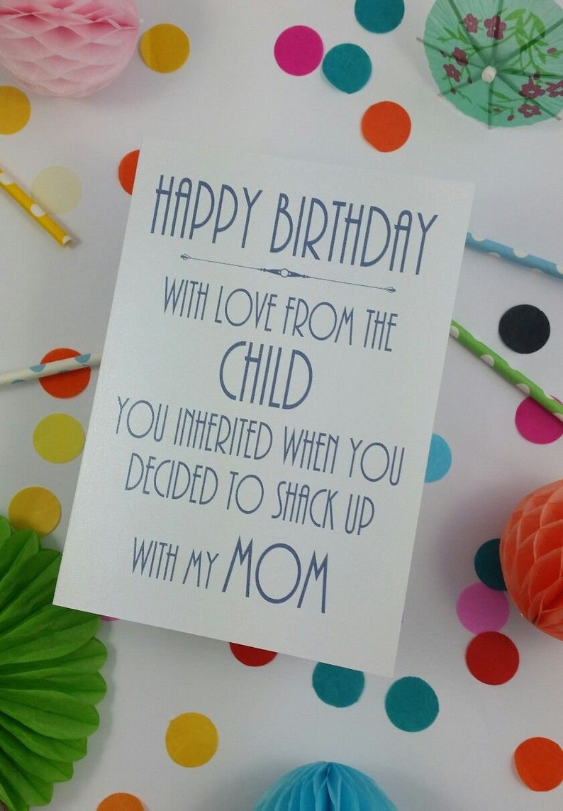 Funny Rude Happy Birthday Card Stepdad Step Parent