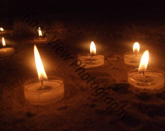 Candle's in the Sand Print
