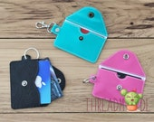 DIY-DIGITAL FILE - 5 x 7 hoop -Snap front flap wallet single pocket, keychain, Card holder, Gift card Snap tab Eyelet-ith Machine Embroidery