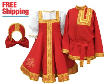 Russian dress Kokoshnik Dance costume Russian clothing Slavic dress sarafan Russian costume traditional dress folk dance dress Russia outfit