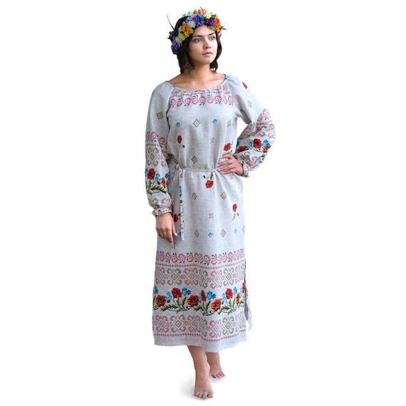 Russian clothing Slavic dress polish folk art theatre costume traditional folk dance dress Russian shirt outfit Russian dress Rubakha