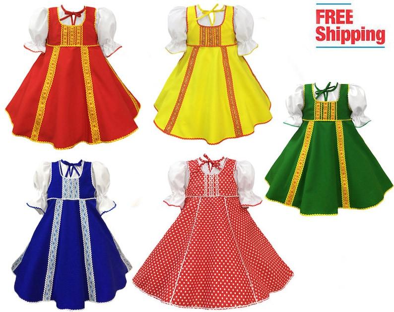 2a9851b9dd5da Russian costume girls Dance clothing, Slavic folk sarafan Russia  traditional dress dancewear cirle skirt, Russia outfit