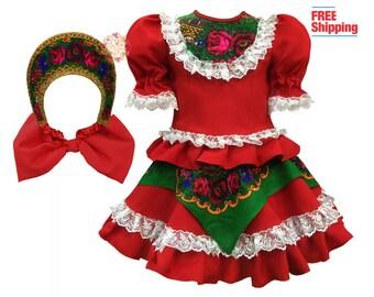 Russian dress Kokoshnik, Hungarian dance costume, Russian clothing Slavic dress, Russian costume traditional dress, folk dance Hungary dress