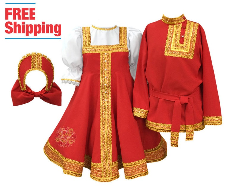 3d1ede905bc5e Russian dress women Kokoshnik Russia dance clothing Slavic dress sarafan  Russian costume traditional folk dress woman Russian outfit