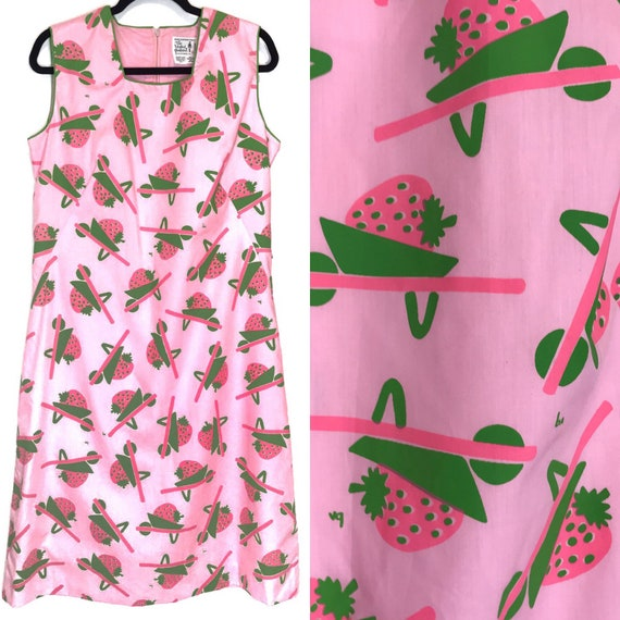 1970's The Vested Gentress Pink Green Strawberry P