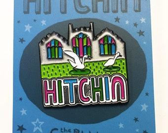 Hitchin enamel pin badge