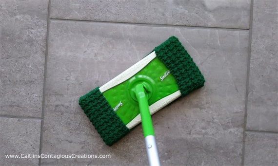 crochet pattern crunch moss stitch swiffer sweeper pad resuable cover tutorial