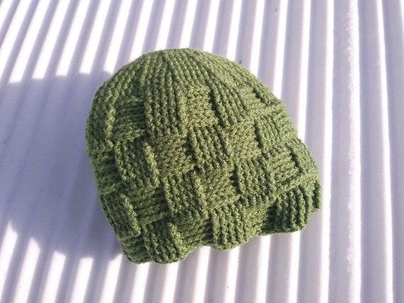 Basket Weave Ponytail Messy Bun Beanie Hat Crochet Pattern Etsy