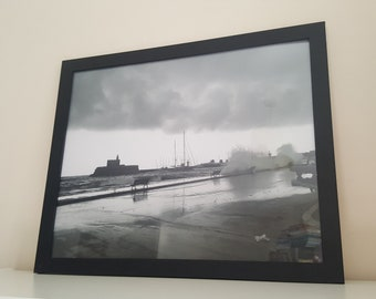 Wall Photo Print - Storm Wave in Rhodes Town