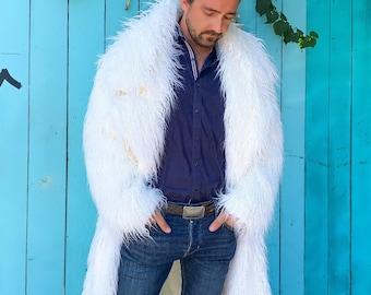 Men's Faux Fur Long Coat