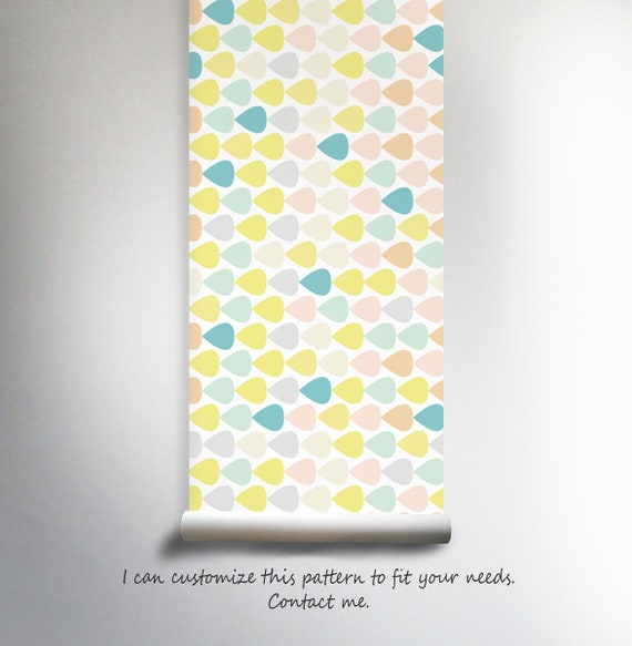 Pastel Lovely Nursery Wallpaper Mint Pink Peel Stick Repositionable Baby Girls Room Kids Decals Reusable