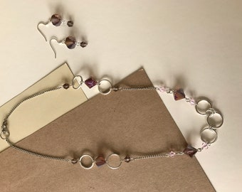 Sweet and Silver Necklace and Earrings