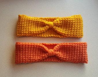Tunisian crochet earwarmer headband