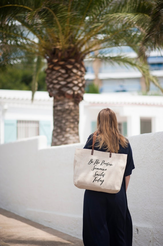 Natural Linen Tote Bag Made In Eu Girlfriend Fiance WIFE 100/% Hand made