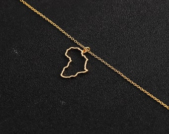 Mother Africa Necklace, Africa Necklace Motherland Necklace UNISEX Silver Africa Necklace Silver Motherland Necklace