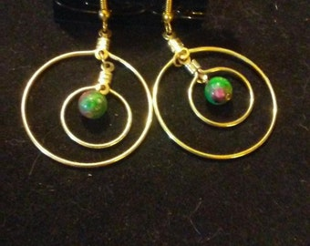 Ruby in zoisite earrings