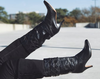 Vintage Patchwork Boots