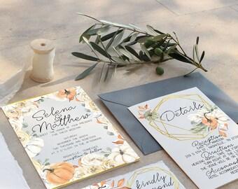 Printable Wedding Invitation Suite  Wedding Invite Set The Rosemary Suite