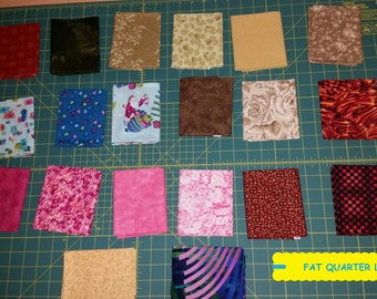 20 Piece Fat Quarter Fabric Bundle~Quilting/Sewing/Crafting ~100% Cotton~Lot #6