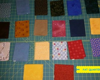 20 Piece Fat Quarter Fabric Bundle~Quilting/Sewing/Crafting ~100% Cotton~Lot #4