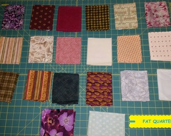 20 Piece Fat Quarter Fabric Bundle~Quilting/Sewing/Crafting ~100% Cotton~Lot #10