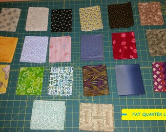 20 Piece Fat Quarter Fabric Bundle~Quilting/Sewing/Crafting ~100% Cotton~Lot #11