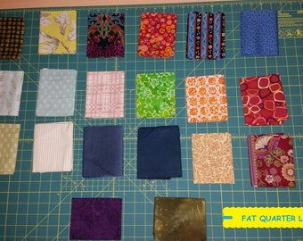 20 Piece Fat Quarter Fabric Bundle~Quilting/Sewing/Crafting ~100% Cotton~Lot #8