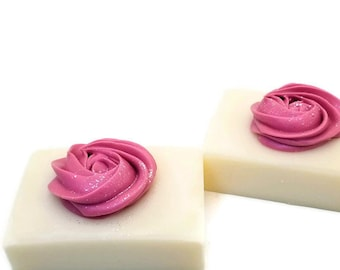 Pink Gardenia, Organic coconut milk soap, 100% coconut oil, homemade cold process soaps, natural, Vegan and Palm free, floral