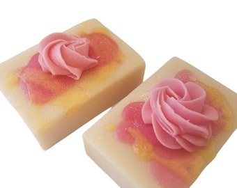 Rose, Organic coconut milk soap,100% coconut oil, homemade cold process soaps, natural Vegan, Palm free, floral,