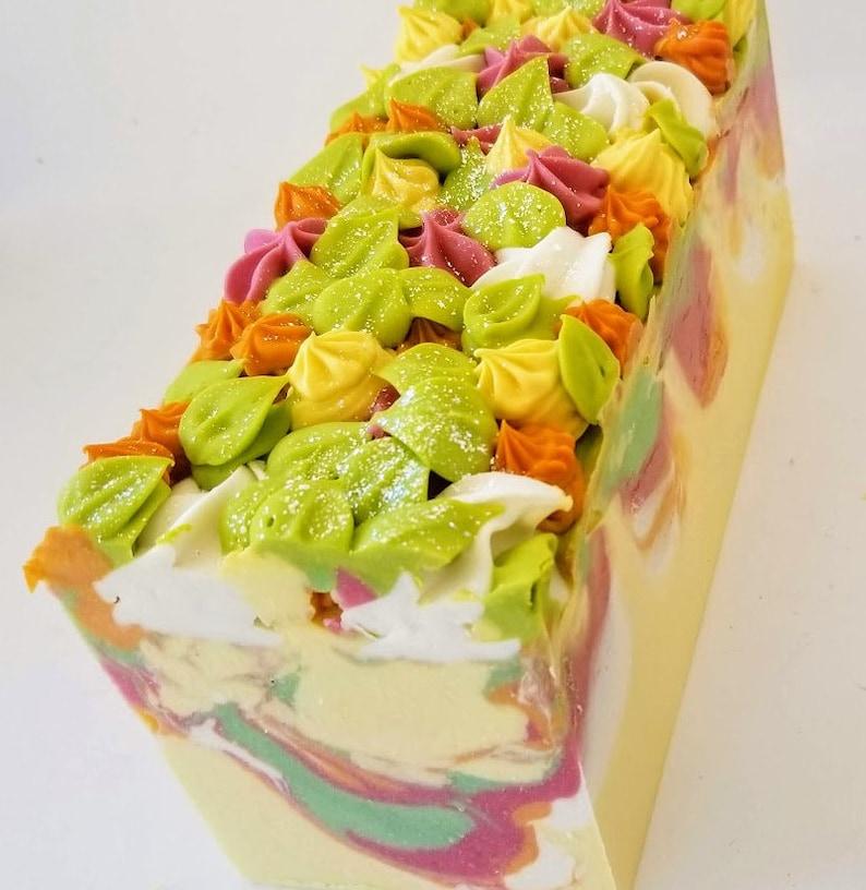 Goat milk soap homemade HONEYSUCKLE artisan cold process image 0