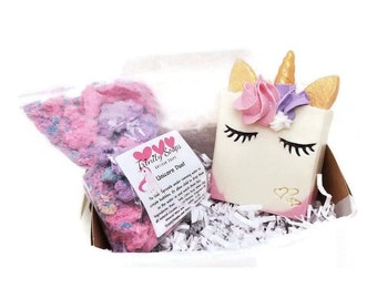 BATH BOMB powder, unicorn soap, cold process, bubble bath dust, bathbombs, bathbomb, kids gift set, bombs, girls birthday, stocking stuffers