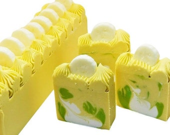 Banana Soap, homemade cold process fruit soaps, aloe vera, white clay and coconut milk