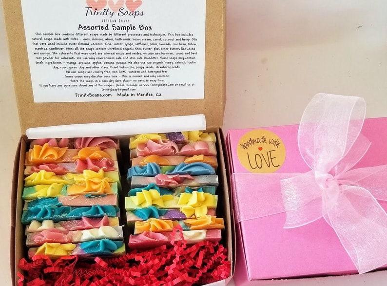 Goat milk soap Birthday gift box for her homemade soap image 0