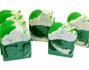 Green Apple, Homemade soap, palm free, goat milk soaps, natural fun food type soap, great for gifts, fruit scent, cold process