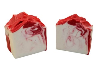 Peppermint candy cane soap, stocking stuffers, handmade, Vegan, homemade cold process natural soaps, Christmas, winter,, mint