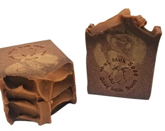 Bourbon Butterscotch and vanilla soap, homemade goat milk soaps with tallow, great for men and women, cold process