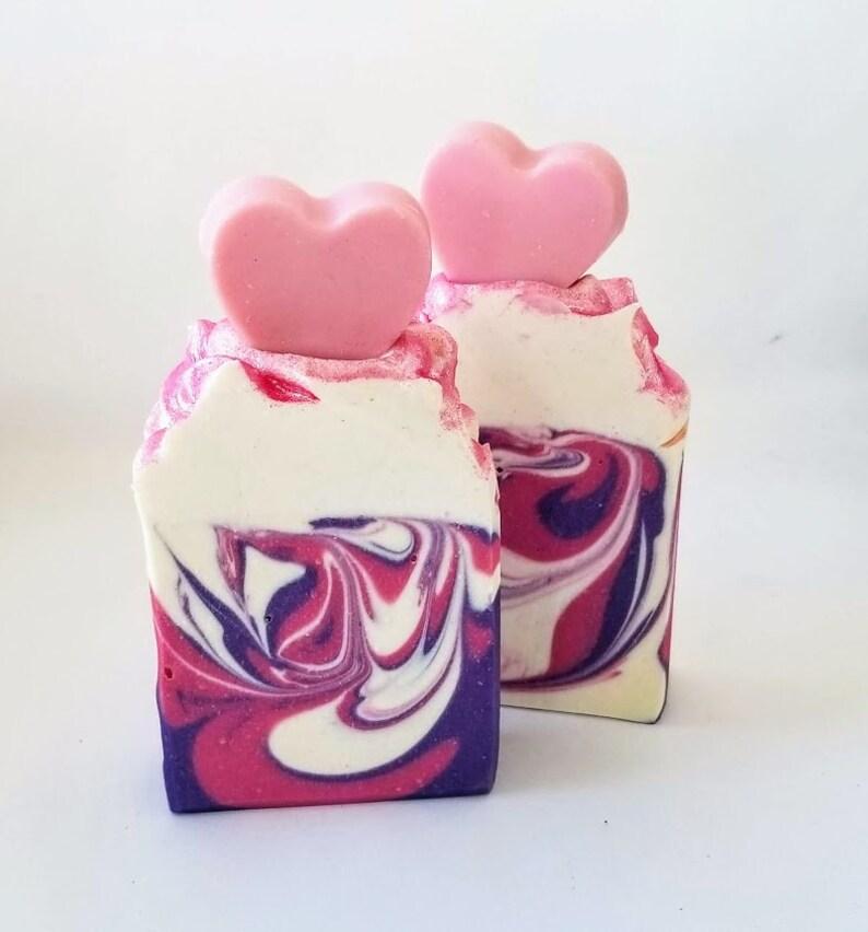 LARGE Love Spell heart soap victoria secret type homemade image 0