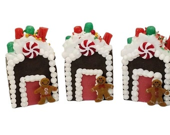 LARGE 2 pack homemade soap, gingerbread man candy house, stocking stuffers, coworker gifts, fun for kids small Christmas gift