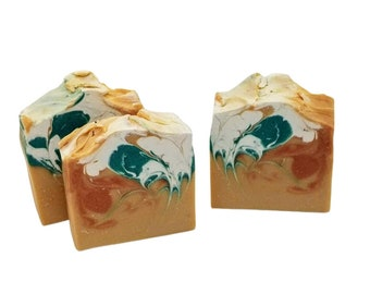 Honey Pear & Cider, homemade organic shea butter soaps, cold process, handcrafted natural soaps,